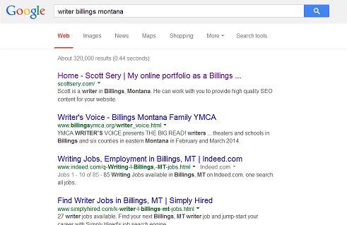 Writer Billings, Montana