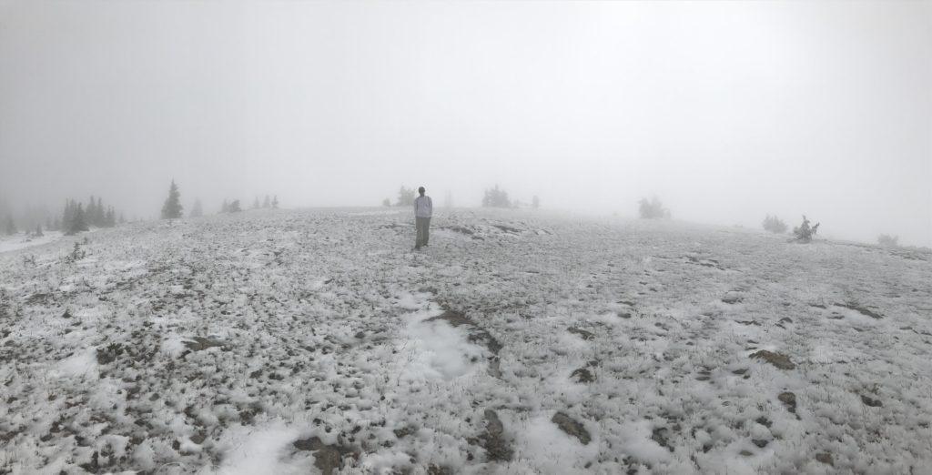 wind snow tundra montana hiking