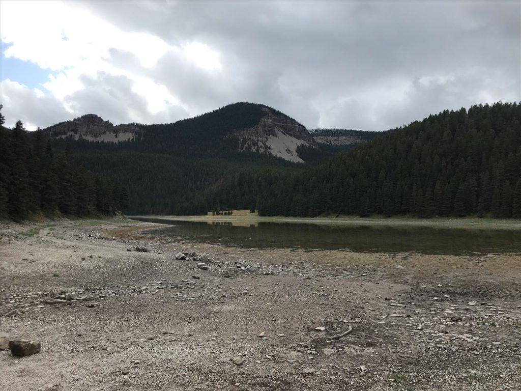 Low water at Crystal Lake