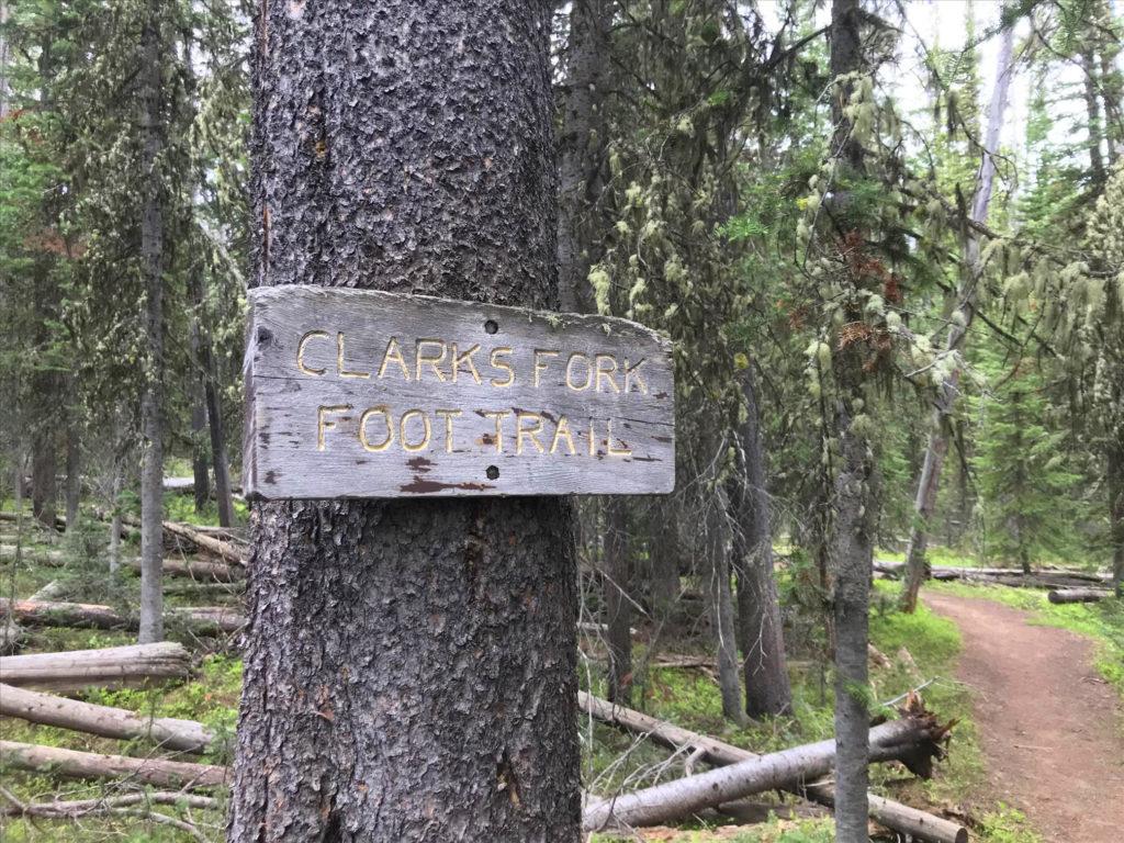 Clarks Fork Foot Trail Beaten Path hiking in Montana