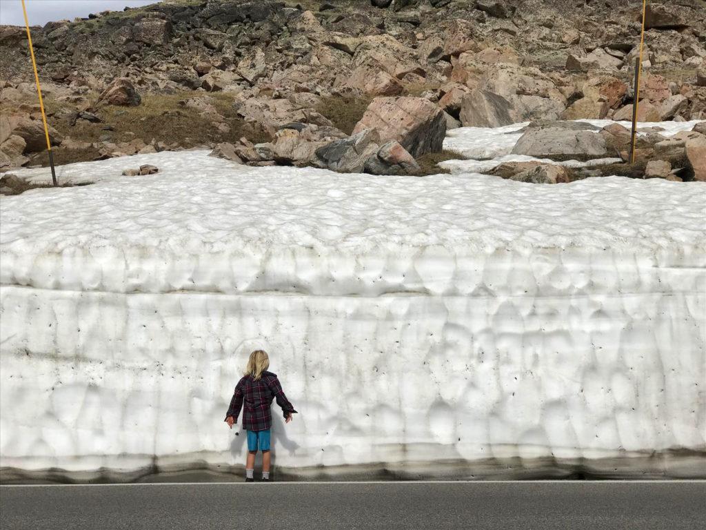 Snow drifts beartooth highway