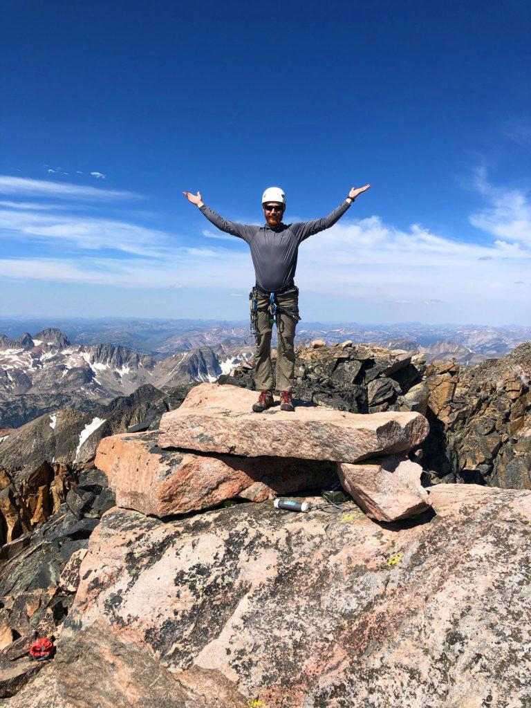 granite peak summit photo climbing writer scott sery